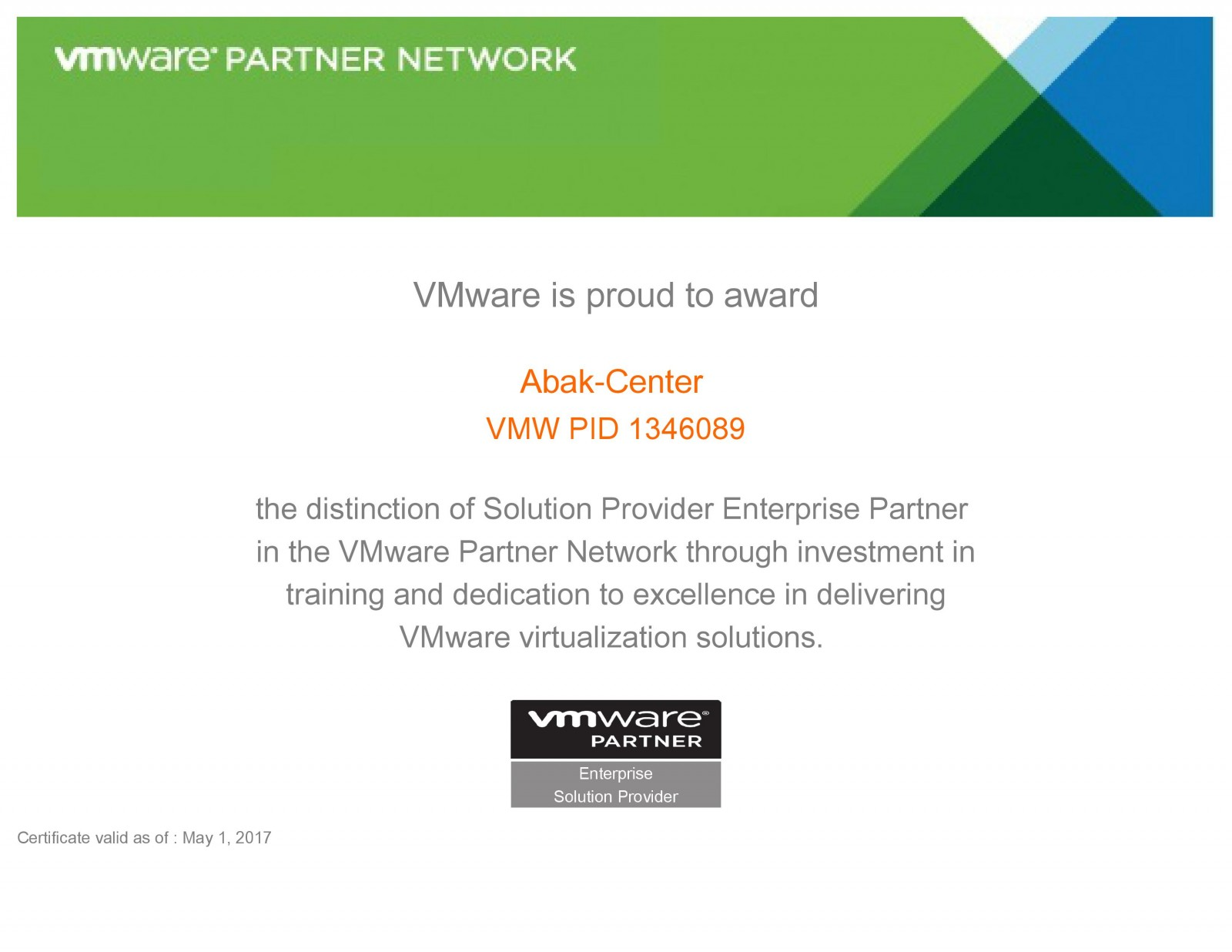 VMWARE Partnet Network